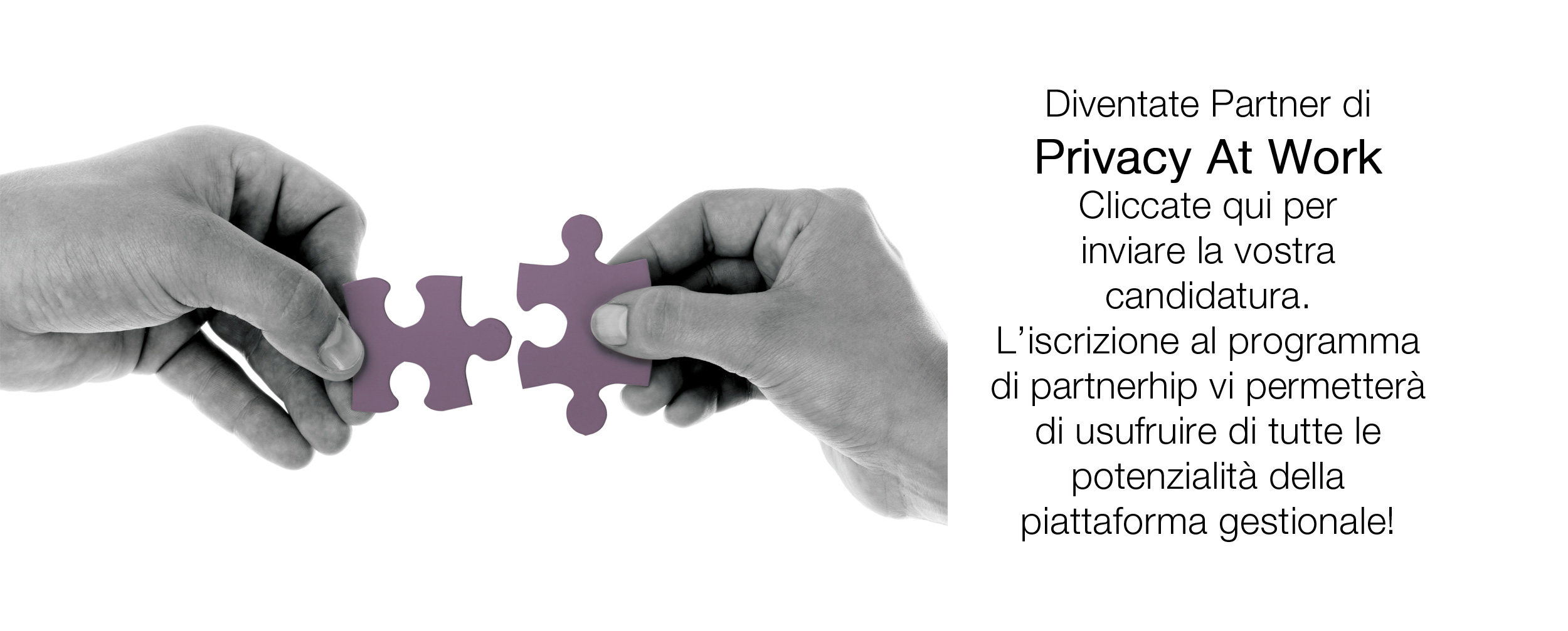 Iscrivetevi a programma di partnership di Privacy at Work